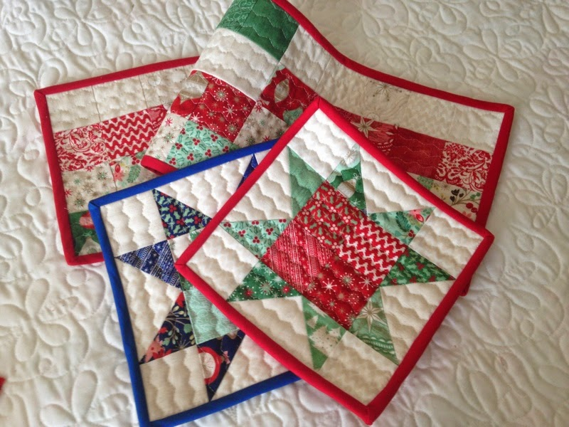 Small quilts and quilted projects parade a quilting life