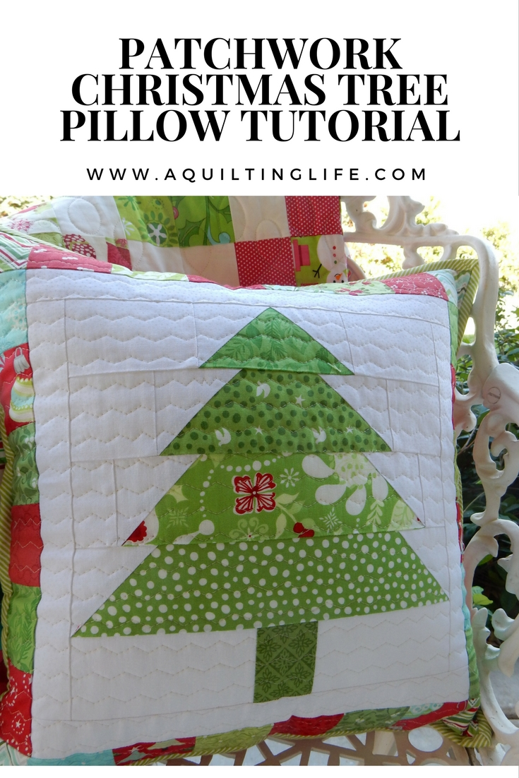 Patchwork Christmas Pillow Tutorial A Quilting Life