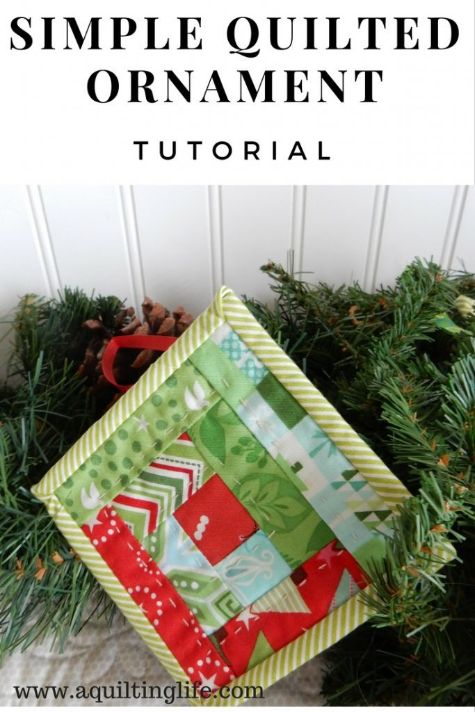 """""""Simple Quilted Ornament"""" is a Free Quilted Christmas Ornament Pattern designed by Sherri from A Quilting Life"""