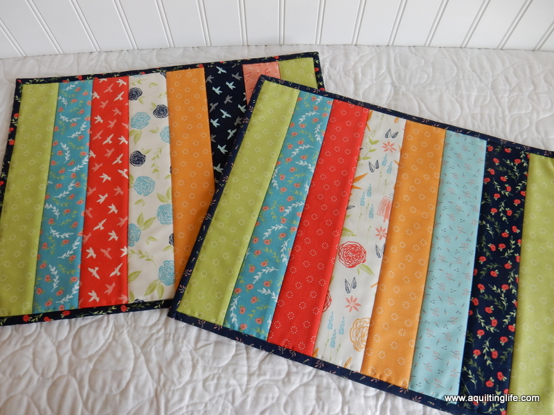 Easy Quilt As You Go Place Mats A Quilting Life