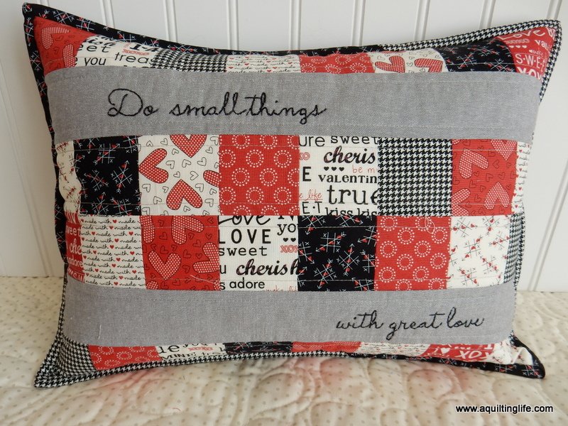 Valentines Pillow Tutorial A Quilting Life