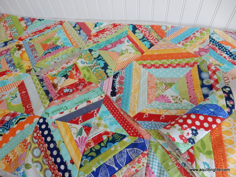 scrappy log cabin blocks