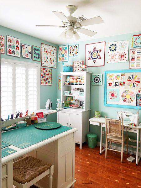 A Quilting Life Organized Sewing Space