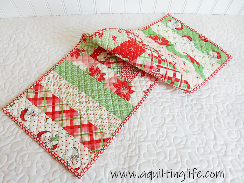 Swell Christmas Table Runner Project A Quilting Life