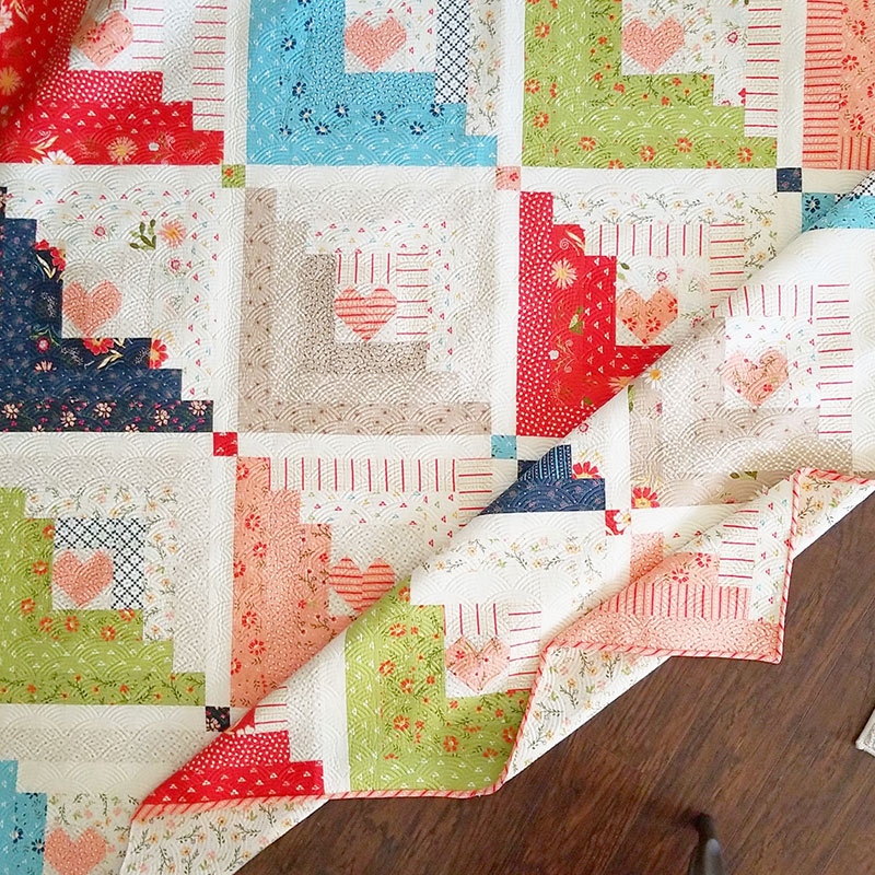 Hearts At Home Jelly Roll Quilt Pattern A Quilting Life