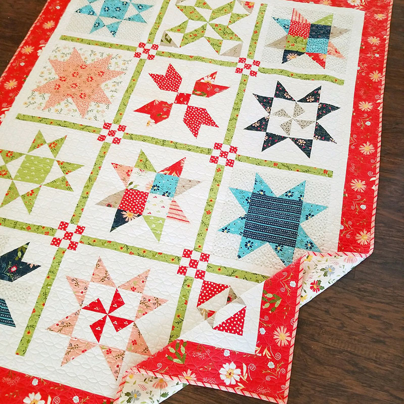 Garden Stars Sampler Quilt Pattern A Quilting Life Simple Sampler Quilt Patterns